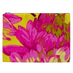Beautiful Pink Flowers Cosmetic Bag (xxl)  by Brittlevirginclothing