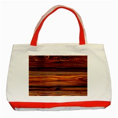 Old Wood Classic Tote Bag (red) by Brittlevirginclothing