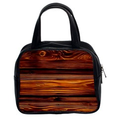 Old Wood Classic Handbags (2 Sides) by Brittlevirginclothing