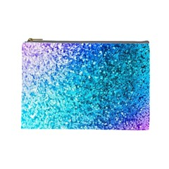 Rainbow Sparkles Cosmetic Bag (large)  by Brittlevirginclothing