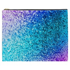 Rainbow Sparkles Cosmetic Bag (xxxl)  by Brittlevirginclothing