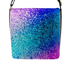 Rainbow Sparkles Flap Messenger Bag (l)  by Brittlevirginclothing
