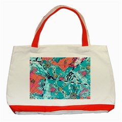 Map Classic Tote Bag (red) by Brittlevirginclothing