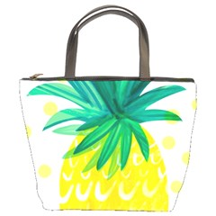 Cute Pineapple Bucket Bags by Brittlevirginclothing