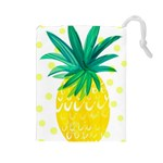 Cute pineapple Drawstring Pouches (Large)  Front