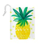 Cute pineapple Drawstring Pouches (Large)  Back
