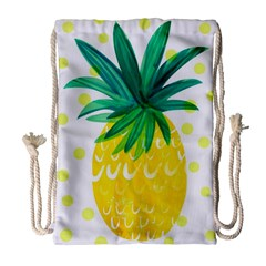 Cute Pineapple Drawstring Bag (large) by Brittlevirginclothing