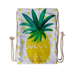 Cute Pineapple Drawstring Bag (small) by Brittlevirginclothing