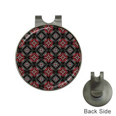 Abstract Black And Red Pattern Hat Clips With Golf Markers