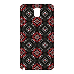 Abstract Black And Red Pattern Samsung Galaxy Note 3 N9005 Hardshell Back Case by Amaryn4rt