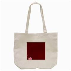 Funny Donuts Tote Bag (cream) by Brittlevirginclothing