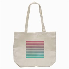 Colorful Horizontal Lines Tote Bag (cream) by Brittlevirginclothing