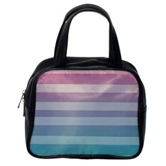 Colorful Horizontal Lines Classic Handbags (one Side) by Brittlevirginclothing