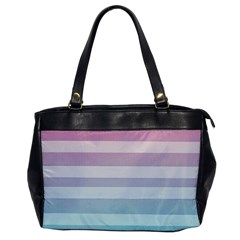 Colorful Horizontal Lines Office Handbags by Brittlevirginclothing