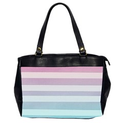 Colorful Horizontal Lines Office Handbags (2 Sides)  by Brittlevirginclothing