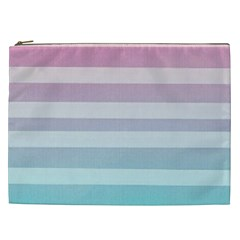 Colorful Horizontal Lines Cosmetic Bag (xxl)  by Brittlevirginclothing