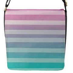 Colorful Horizontal Lines Flap Messenger Bag (s) by Brittlevirginclothing