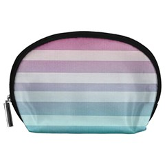 Colorful Horizontal Lines Accessory Pouches (large)  by Brittlevirginclothing