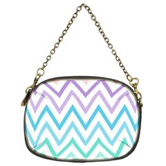 Colorful Wavy Lines Chain Purses (two Sides)  by Brittlevirginclothing