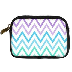 Colorful Wavy Lines Digital Camera Cases by Brittlevirginclothing