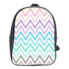 Colorful Wavy Lines School Bags(large)