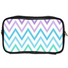 Colorful Wavy Lines Toiletries Bags by Brittlevirginclothing