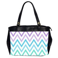 Colorful Wavy Lines Office Handbags (2 Sides)  by Brittlevirginclothing