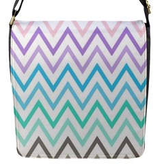 Colorful Wavy Lines Flap Messenger Bag (s) by Brittlevirginclothing