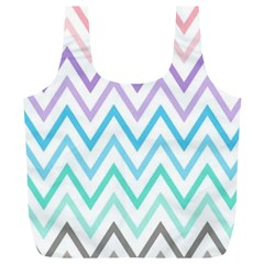 Colorful Wavy Lines Full Print Recycle Bags (l)  by Brittlevirginclothing