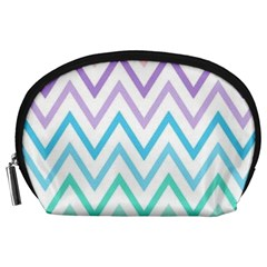 Colorful Wavy Lines Accessory Pouches (large)  by Brittlevirginclothing