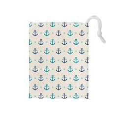 Sailor Anchor Drawstring Pouches (medium)  by Brittlevirginclothing