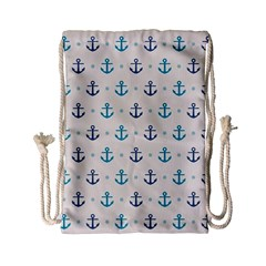 Sailor Anchor Drawstring Bag (small) by Brittlevirginclothing