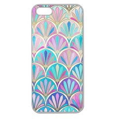 Colorful Sea Shell Apple Seamless Iphone 5 Case (clear) by Brittlevirginclothing