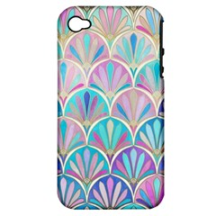 Colorful Sea Shell Apple Iphone 4/4s Hardshell Case (pc+silicone) by Brittlevirginclothing