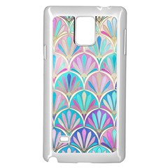 Colorful Sea Shell Samsung Galaxy Note 4 Case (white) by Brittlevirginclothing