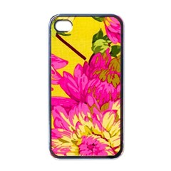 Colorful Pink Flower Apple Iphone 4 Case (black) by Brittlevirginclothing