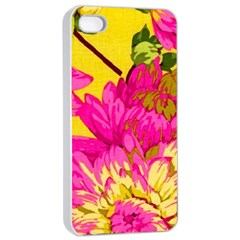 Colorful Pink Flower Apple Iphone 4/4s Seamless Case (white) by Brittlevirginclothing