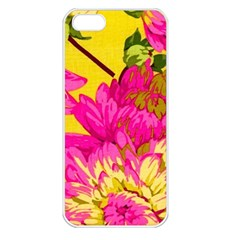Colorful Pink Flower Apple Iphone 5 Seamless Case (white) by Brittlevirginclothing