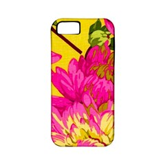 Colorful Pink Flower Apple Iphone 5 Classic Hardshell Case (pc+silicone) by Brittlevirginclothing