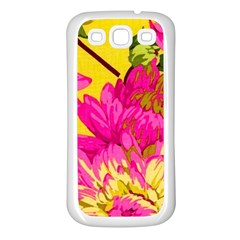 Colorful Pink Flower Samsung Galaxy S3 Back Case (white) by Brittlevirginclothing