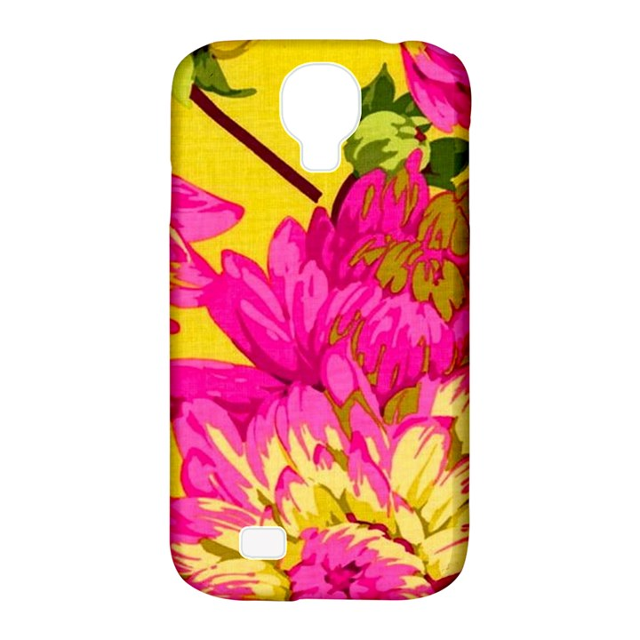 Colorful pink flower Samsung Galaxy S4 Classic Hardshell Case (PC+Silicone)