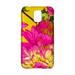 Colorful Pink Flower Samsung Galaxy S5 Hardshell Case