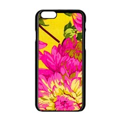 Colorful Pink Flower Apple Iphone 6/6s Black Enamel Case by Brittlevirginclothing