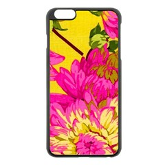Colorful Pink Flower Apple Iphone 6 Plus/6s Plus Black Enamel Case by Brittlevirginclothing