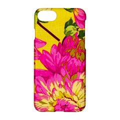 Colorful Pink Flower Apple Iphone 7 Hardshell Case by Brittlevirginclothing