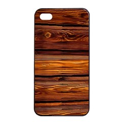 Wood Apple Iphone 4/4s Seamless Case (black) by Brittlevirginclothing