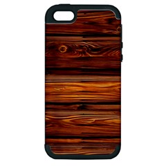 Wood Apple Iphone 5 Hardshell Case (pc+silicone) by Brittlevirginclothing