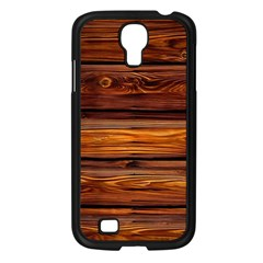 Wood Samsung Galaxy S4 I9500/ I9505 Case (black)