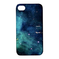 Space Apple Iphone 4/4s Hardshell Case With Stand