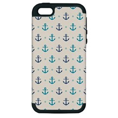 Sailor Anchor Apple Iphone 5 Hardshell Case (pc+silicone) by Brittlevirginclothing